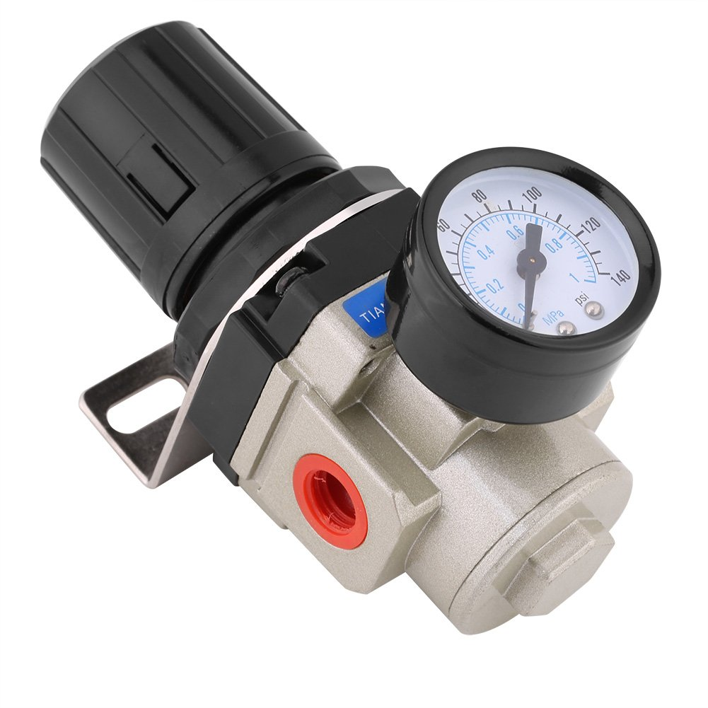1Mpa Man/ómetro con Regulador neum/ático de aire G3//8 Hilo con soporte