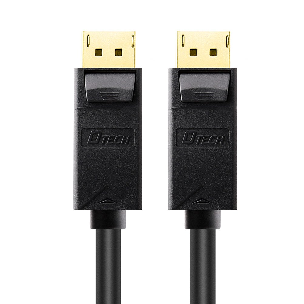 DTECH Displayport Cable to Display Port Male to Male Cord 4k Resolution Gold Plated Connector (6 ft) Guangzhou DTECH Electronics Technology Co. Ltd
