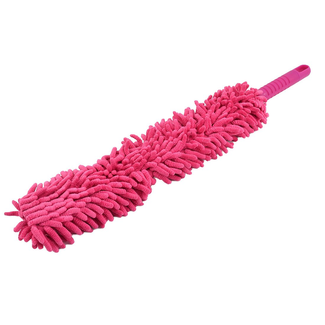 uxcell Plastic Handle Home Detachable Bookshelf Window Car Dirt Clean Brush Duster Fuchsia