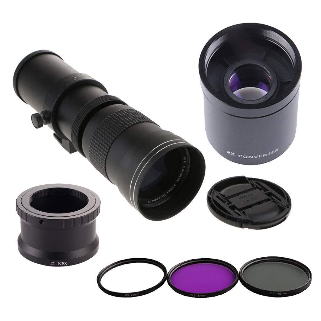 kesoto 420-800mm F / 8.3-16 Lente de Zoom Teleobjetivo con ...