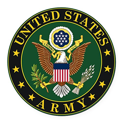 CafePress - U.S. Army Symbol - Round Car Magnet, Magnetic Bumper Sticker