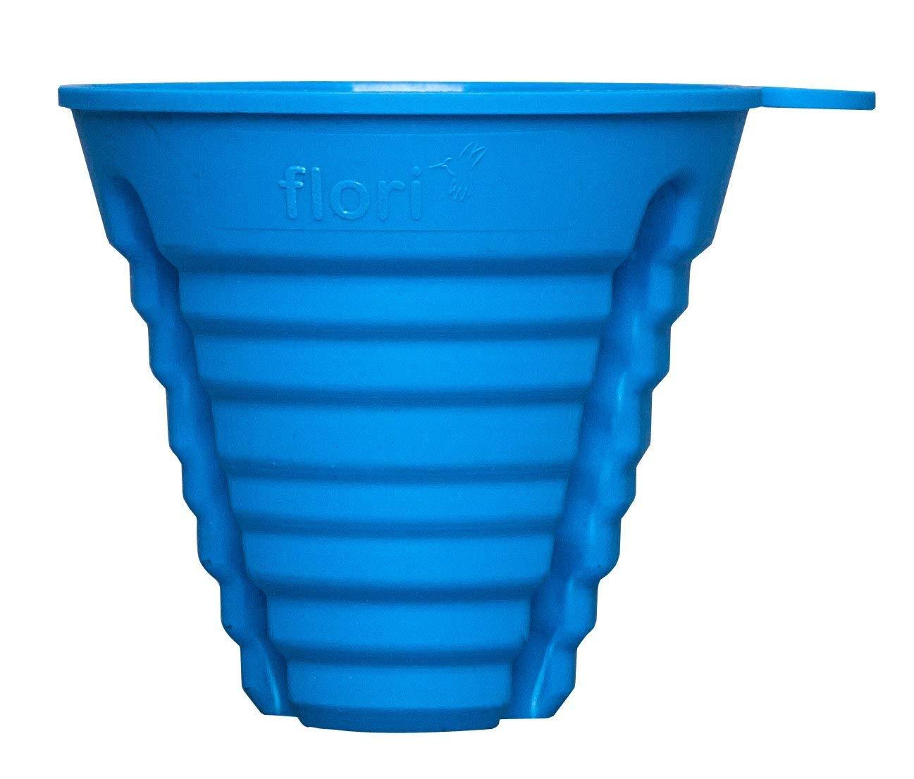 blau 2er Set steckfest f/ür 7 verschiedene Durchmesser 100/% Made in Germany Flori Baby Multi Trichter f/ür pr/äzises Bef/üllen von alle Babyflaschen ohne sie festzuhalten BPA frei
