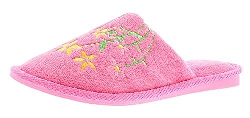 NUEVO MUJER FUCSIA Zapatos Sin Talón Estilo SENCILLOS/Sin Mangas Zapatillas - Fucsia - GB Tallas 3-8 - Fucsia, 36: Amazon.es: Zapatos y complementos