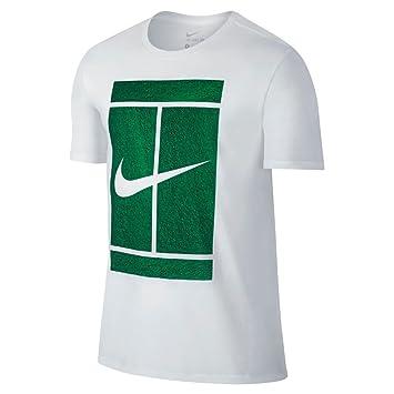 Nike Court Logo Tee - Camiseta de manga corta para hombre, color blanco, talla XS: Amazon.es: Deportes y aire libre