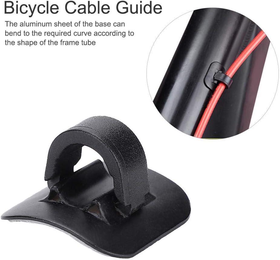 Guía de Cable de Freno Cable de Bicicletas C-Clips Hebillas Guías ...