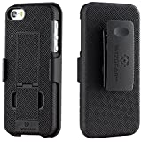iPhone SE Holster, WizGear Shell Holster Combo Case for Apple iPhone SE / 5 / 5S With Kick-Stand and Belt Clip - Black