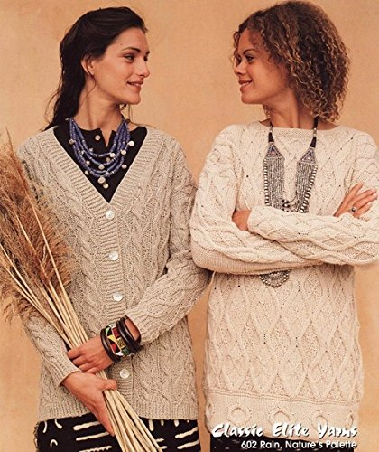 Classic Elite Yarns Knitting Pattern #602 - Addis Ababa, Ethiopia - Women's Cardigan & Pullover (Elite Cardigan)