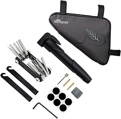 Portable Cycling Bike Bicycle Tyre Repair Kit Tool Bag with Multi-function Tool