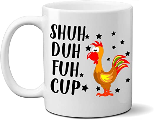 Shuh Duh Fuh Cup Rude Cat Funny High Quality Coffee Mug