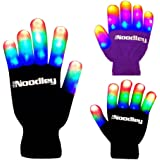 The Noodley Flashing LED Light Gloves - Kids Size and Adult Size - Extra Batteries