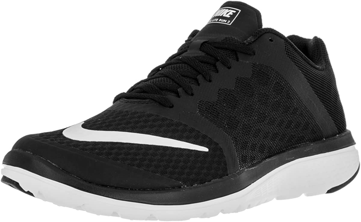 Nike Men s FS Lite Run 3 Running Shoe Black White Size 11 M US
