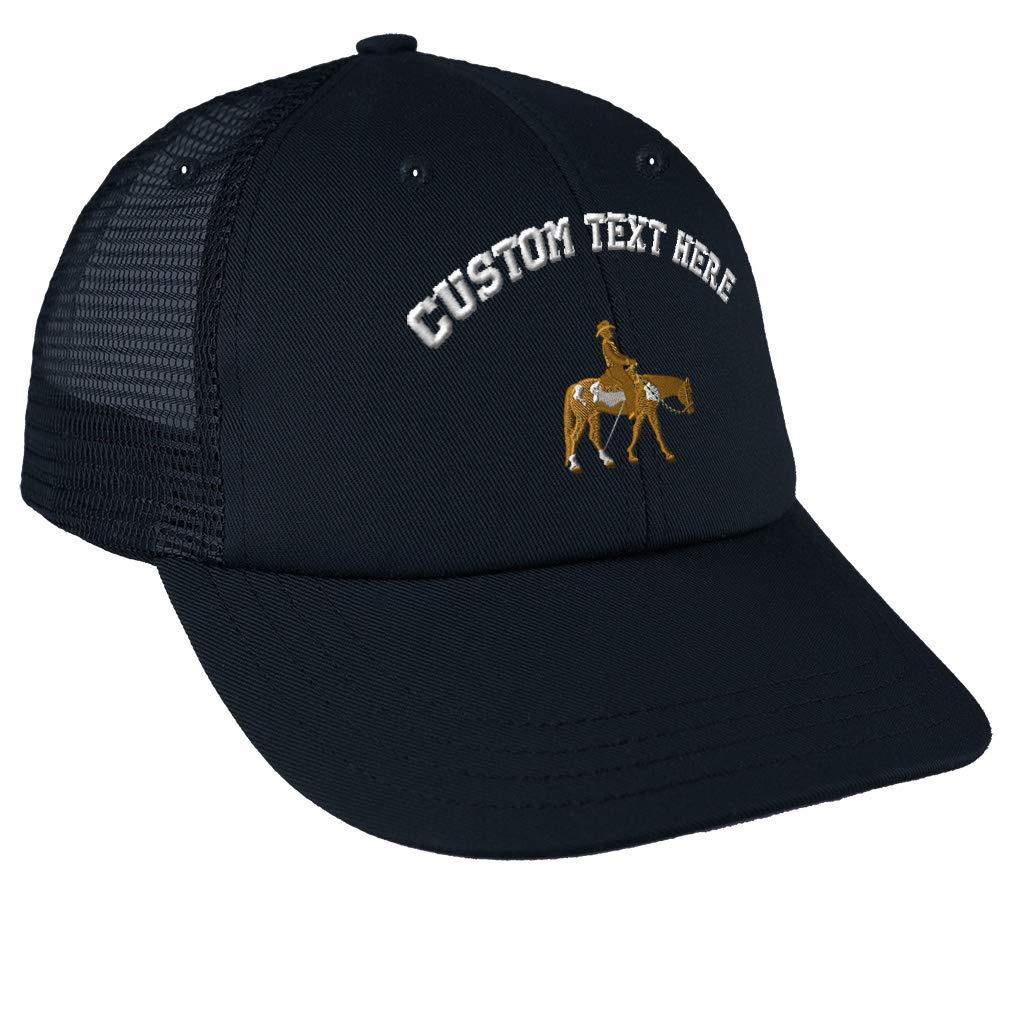 Custom Snapback Baseball Cap Western Pleasure Horse Embroidery Design Cotton