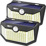 Hmcity Solar Lights Outdoor 120 LED with Lights Reflector, Motion Sensor Security Lights IP65 Waterproof Solar Powered…