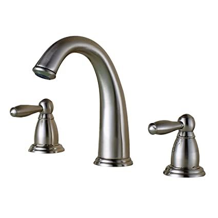 Amazon Com Soqo Two Handle High Arc Widespread Bathroom Faucet