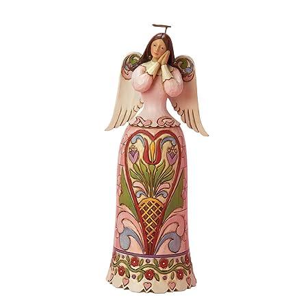 Enesco Jim Shore Heartwood Creek Love Angel with Heart Figurine 10-Inch