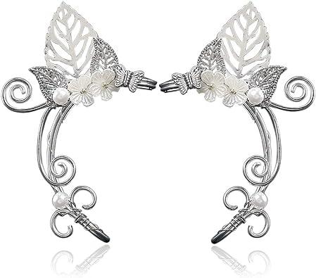 Filigree Wings Ear Clips Silver