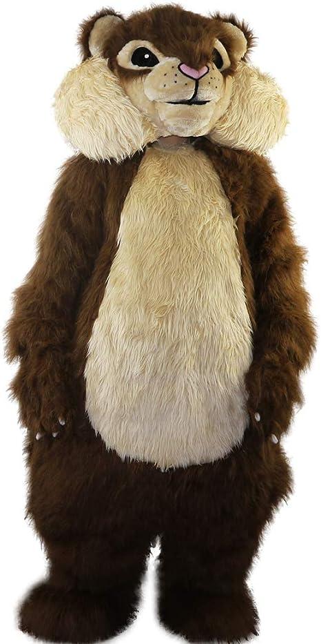 Langteng - Disfraz de Ardilla de Pelo Largo, Color marrón Claro ...
