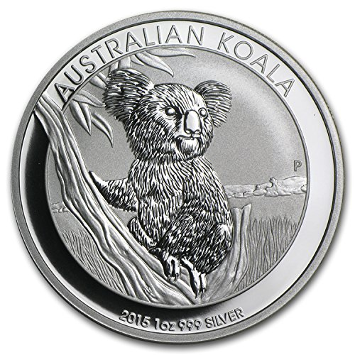 - 2015 AU Australia 1 oz Silver Koala BU 1 OZ Brilliant Uncirculated