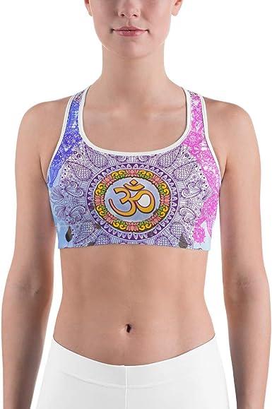 e-dreamstore 1P Padded Sports Bra for Gym Sport Jogging Female White