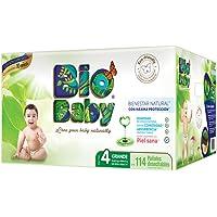 Bio Baby, Unisex, Talla Grande, 114 Pañales (La imagen del empaque puede variar)