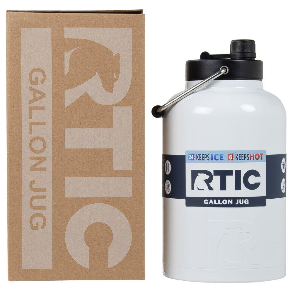 RTIC One Gallon Vacuum Insulated Jug, White