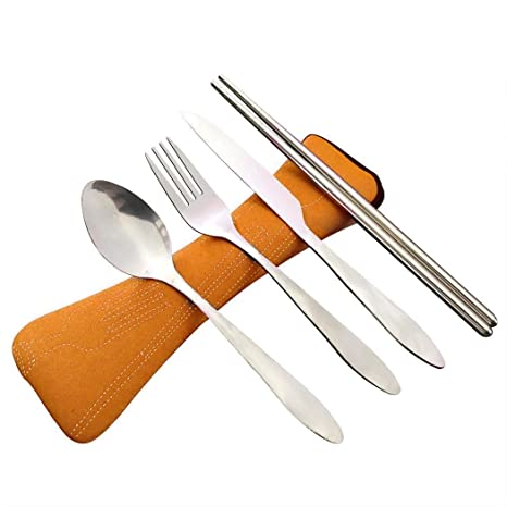 Sliwei 4pcs Conjunto de Cuchillo de Acero Inoxidable Ligero ...
