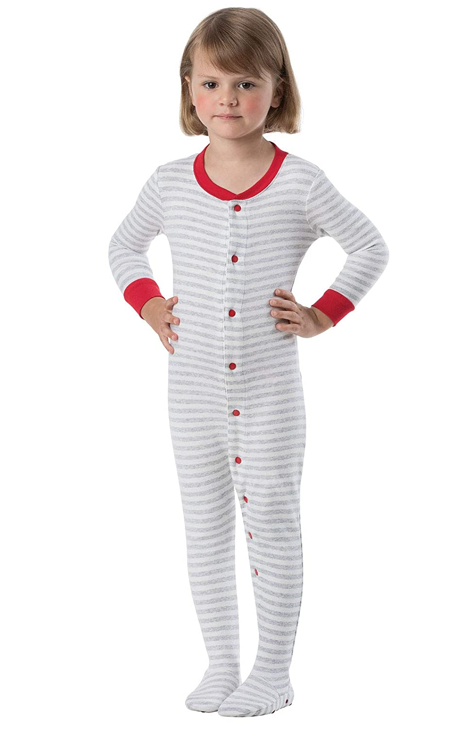 f8c37eeb45 Amazon.com  PajamaGram Cotton Dropseat Footie Onesie Pajamas for Toddler  and Infant  Clothing