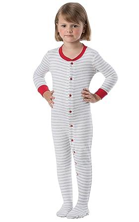 Amazon.com  PajamaGram Cotton Dropseat Footie Onesie Pajamas for ... 2796f95b7