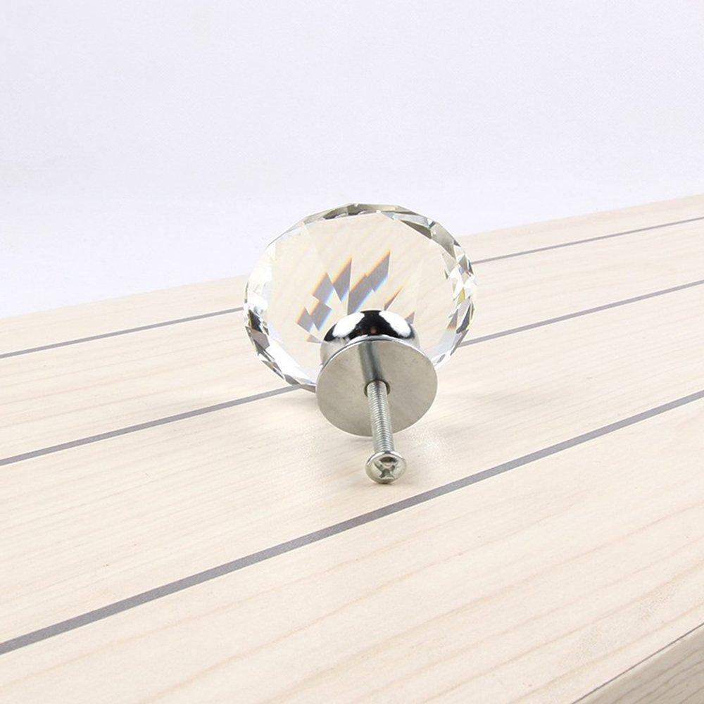 a forma di diamante cassetti in cristallo porte e credenze per guardaroba Set di 16 pomelli da 40/mm