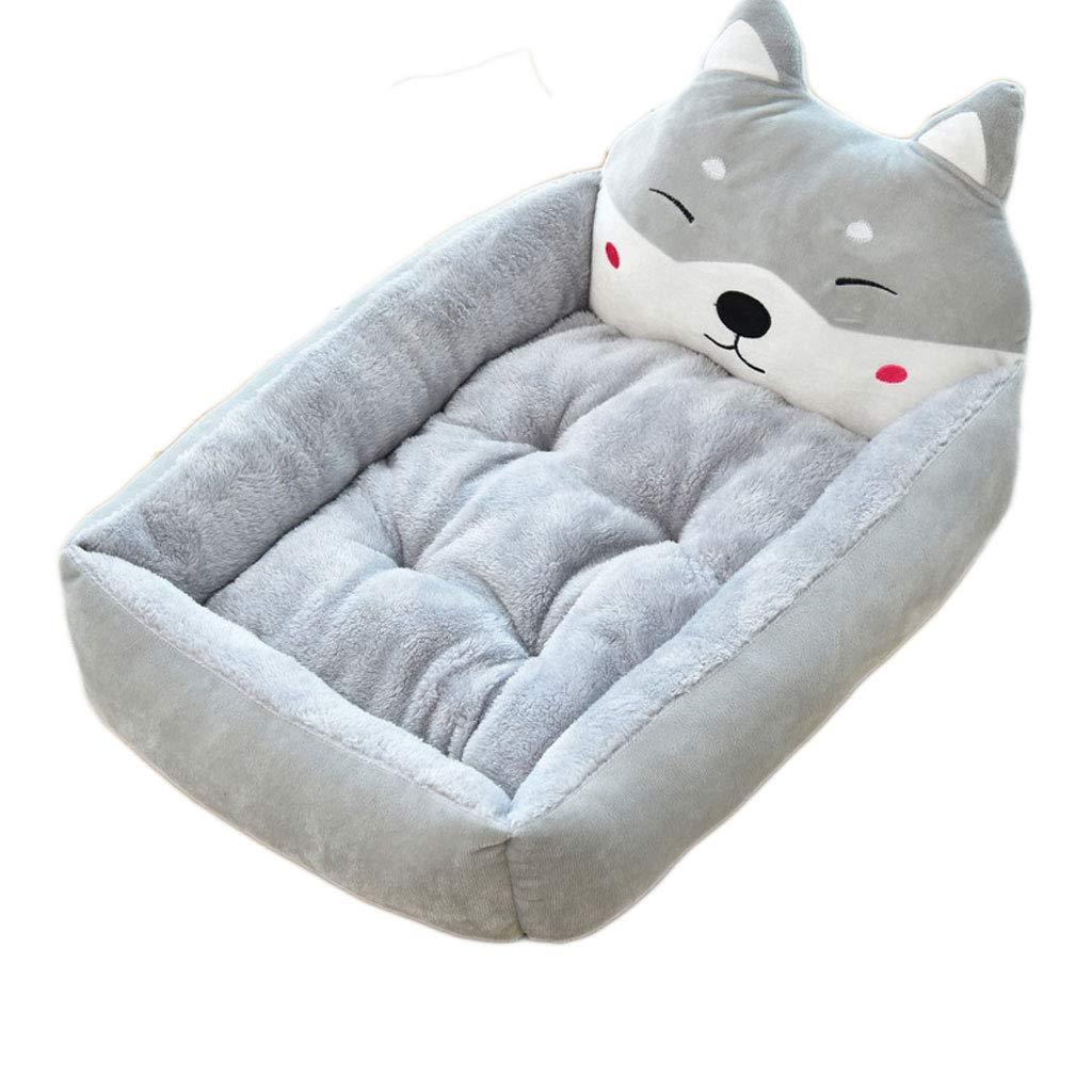 A 50cm A 50cm Pet Dog Mattress Animal Pet Kennel Sofa Winter Warm Cat Dog House Dog Cover Pad Big Basket Dog Mattress (color   A, Size   50cm)