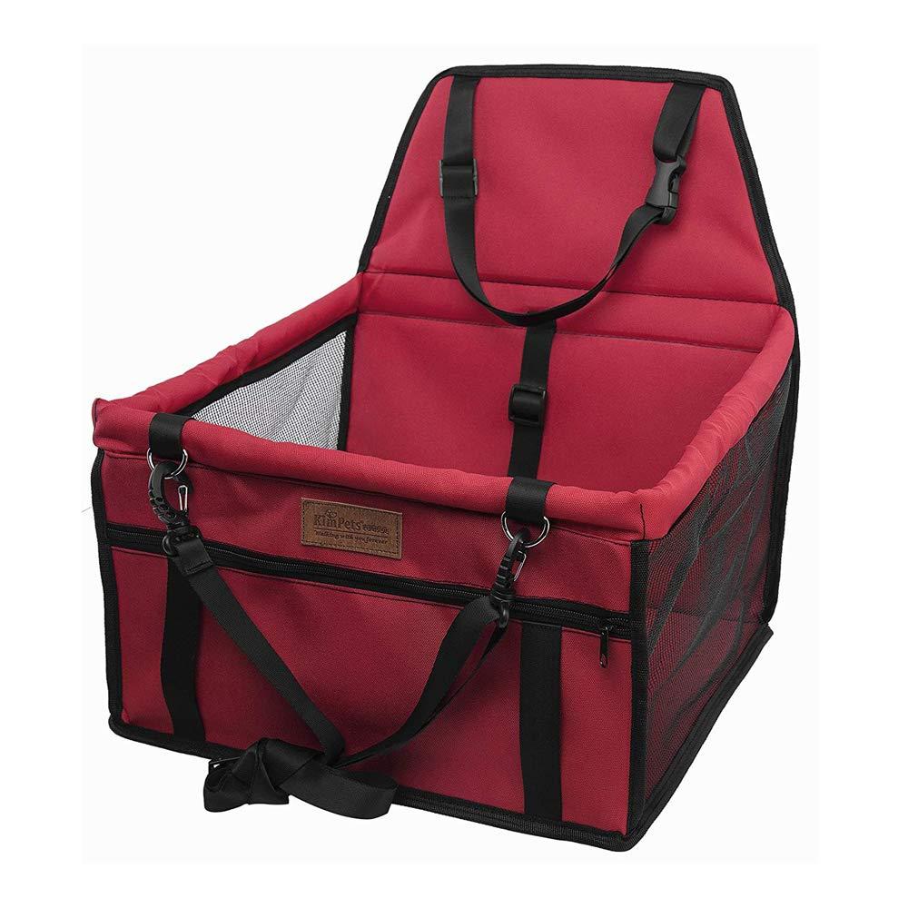Chien Booster Siè ge Auto PET Bag, Pets Chien Automobile Place Voyage Auto Booster Poche Pour Petit Chiens Chats Chiot (40 * 32 * 25Cm),Red XBECO