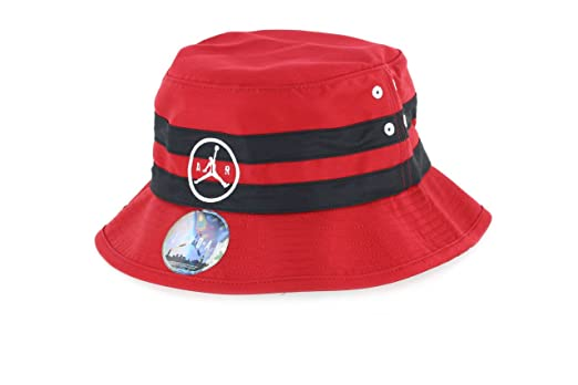 1df2422670d ... hot jordan jumpman air striped bucket hat red black large x large 82229  c0274