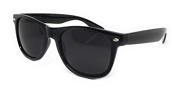 5afaf0249f26 WebDeals - Color Mirror Reflective Lens and Dark Horn Rimmed Large Square  Sunglasses (Black