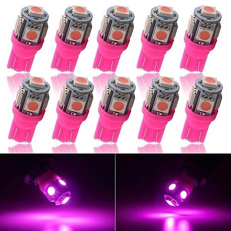 Amazon.com: Grandview - 10 luces LED para coche T10 5050 12 ...