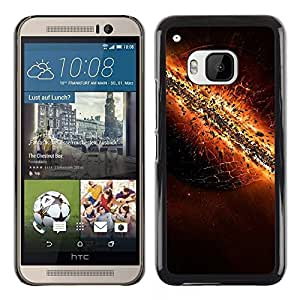LECELL -- Funda protectora / Cubierta / Piel For HTC One M9 -- The destruction of Earth --