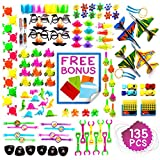 Imagine's JUMBO 135 Piece Party Favors Assortment: Colorful Toys, Pinata and Claw Machine Fillers, Carnival Prizes, Rewards, Gifts Plus Free Envelopes