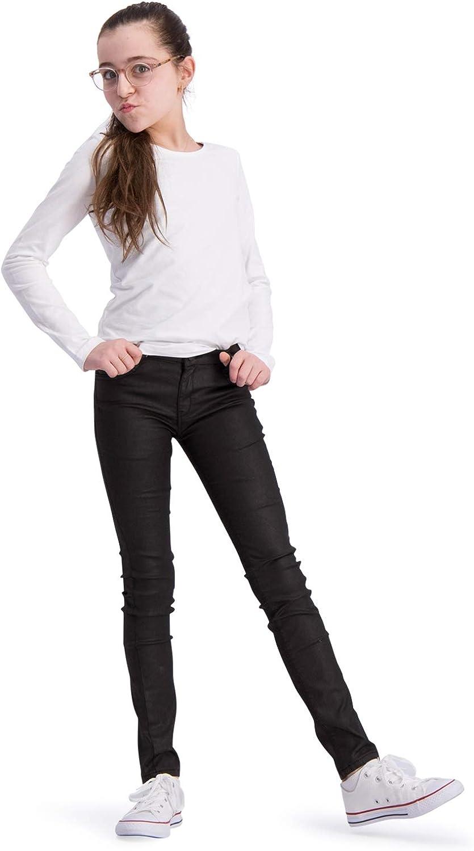 Color Negro Ajustados BOOF Pantalones Vaqueros para ni/ña