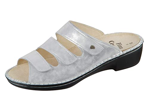 252f307aac35b1 Finn Comfort Canzo 02688-640297 Argento Slide Slide  Amazon.de ...