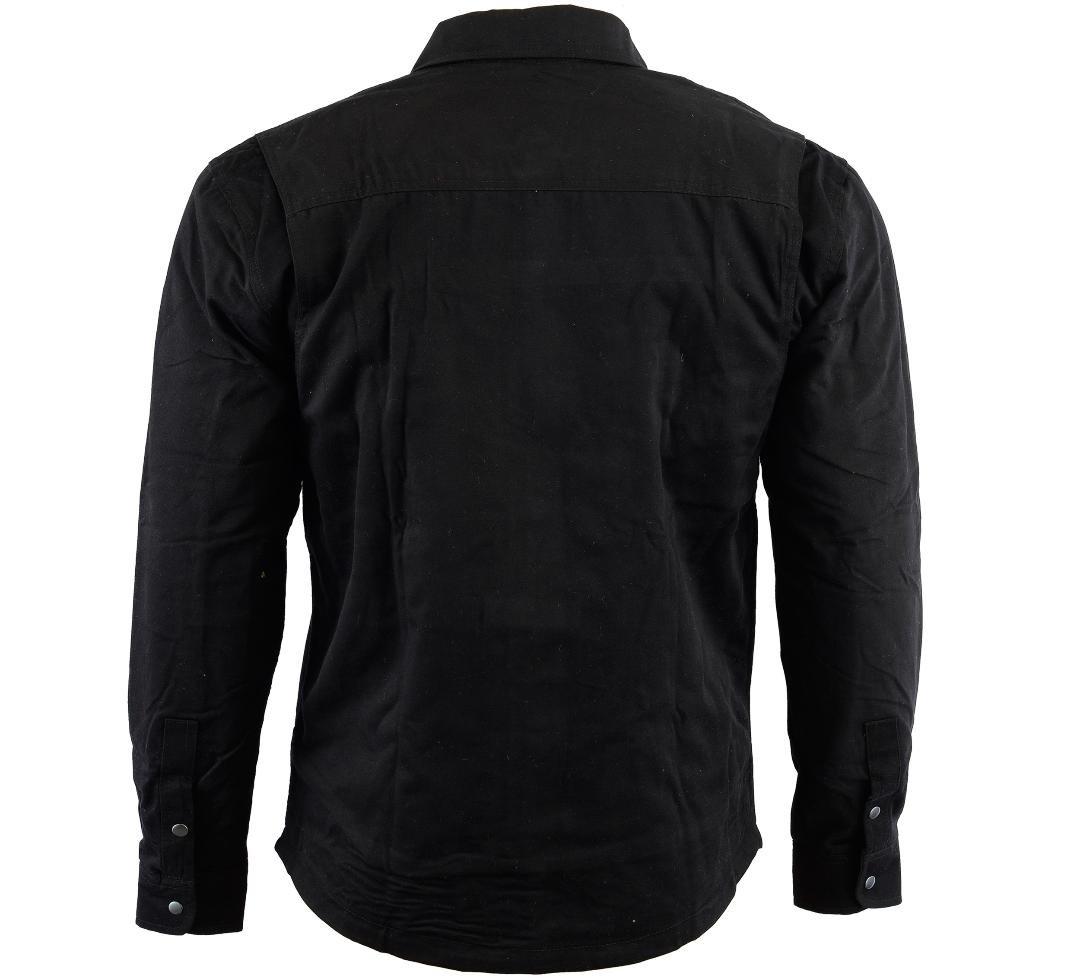 Bikers Gear Australia Limited Motorrad Kevlar Aramid gef/üttert Schutz Flanell Hemd Solid schwarz Gr/ö/ße S
