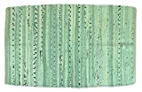 DII Contemporary Reversible Floor Rug for Bathroom, Living Room, Kitchen, or Laundry Room (20x31.5) - Mint