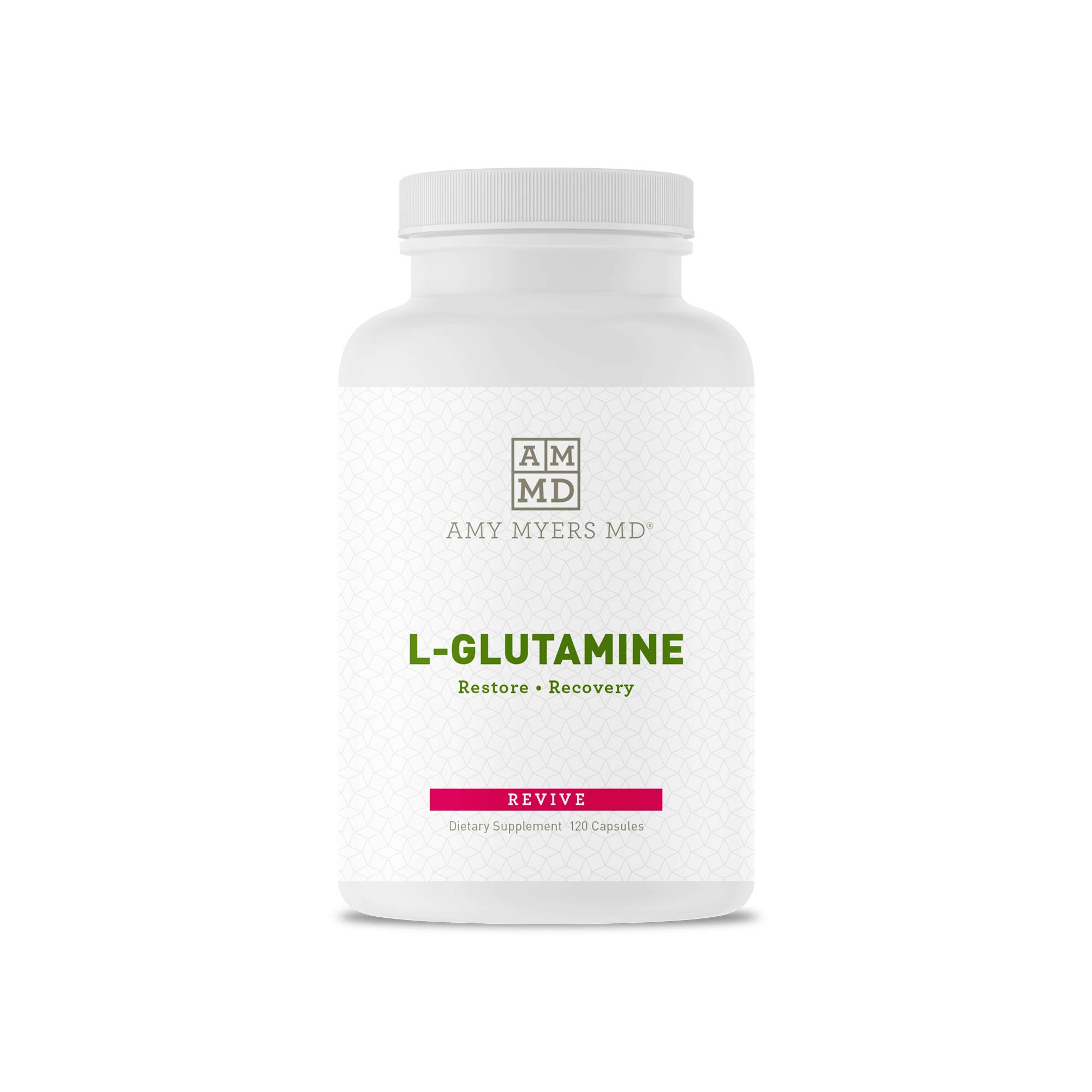 L-Glutamine Capsules from The Myers Way Protocol - Helps Beat Sugar Cravings & Support Healthy Weight Loss - Dietary Supplement, 120 Capsules 850 mg per Capsule - from Dr. Amy Myers by Amy Myers, MD