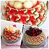 Beautiful bowl of watermelon carving: How to carve a watermelon bowl, carving procedure is described in detail. Just follow the simple beginner can do it.