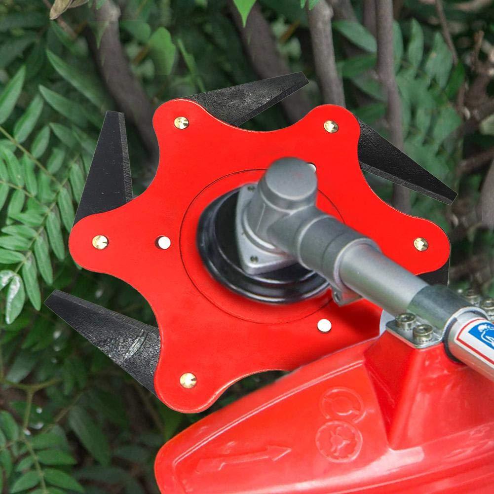 6 Cuchillas De Acero Cortador De Cabeza De Cortador,accesorios De Cortac/ésped Cabeza De C/ésped,cabezales Cuchilla Desbrozadora Cuchilla Cortadora De C/ésped Cortadora Cortadora De C/ésped Cabeza