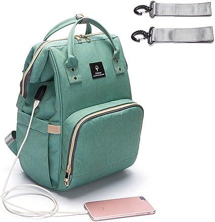 Multifunctional Baby Nappy Travel Backpack Waterproof Mummy Diaper Bag USB Port