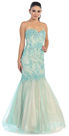 Royal Queen RQ7248 Mermaid Prom Evening Dress - Multicoloured -