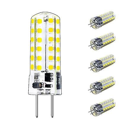 Bonlux 3.5W G6.35/GY6.35 LED Birne Bi-Pin Sockel JC Typ AC/DC 12V 3000K Warmweiß 350 Lumen 2-Stifte (5-Pack, Nicht Dimmbar)