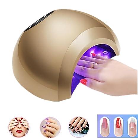 Youmei Secador de Uñas Lámpara UV 48W Profesional LED Lámpara de Uñas LED Secador de Uñas