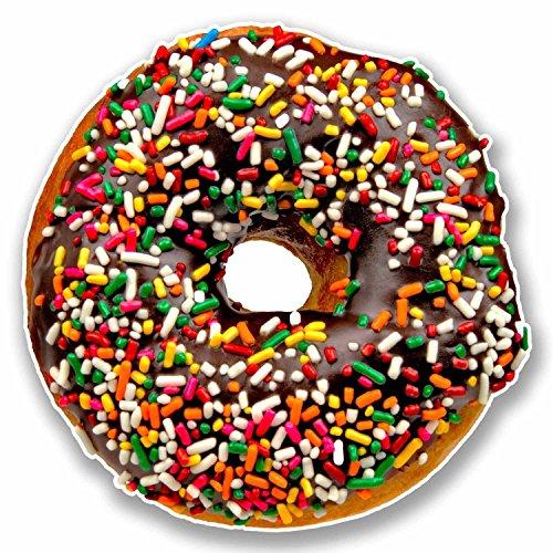 2 x 10cm Chocolate Sprinkle Doughnut Vinyl ()