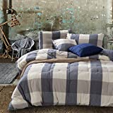 LUOTIANLANG 200230cm high grade water washed cotton down quilt, luxurious thickening, warmth down quilt, down quilt core, pure cotton fabric,D,200230cm,