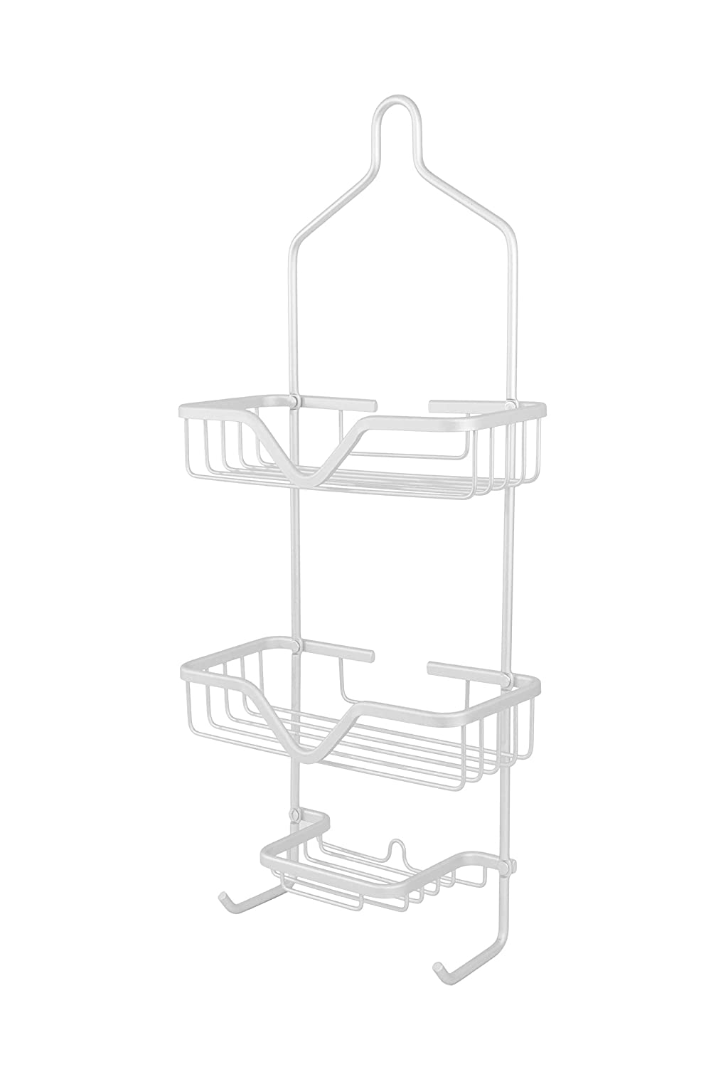 Rust-Proof AluminumShower Caddy Brighton in Matte Silver ; by Vanderbilt Home V05627